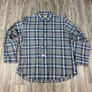 J.Crew Blue Plaid Button Down Shirt Size XL